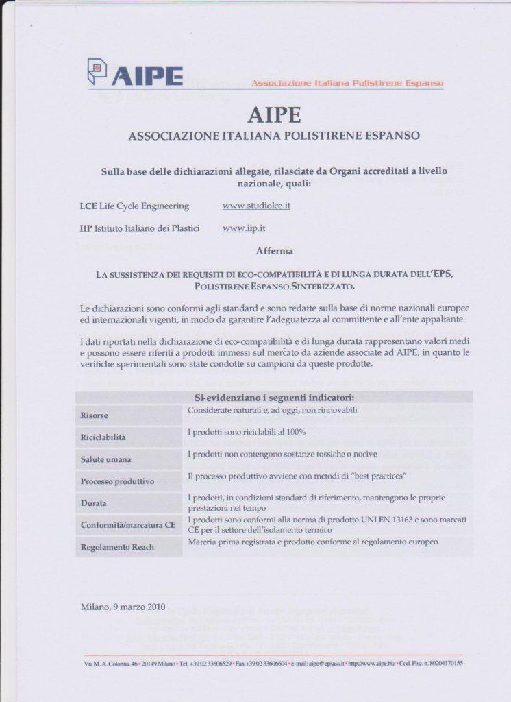 AIPE-A-System-certificazione ECO-Compatibilità