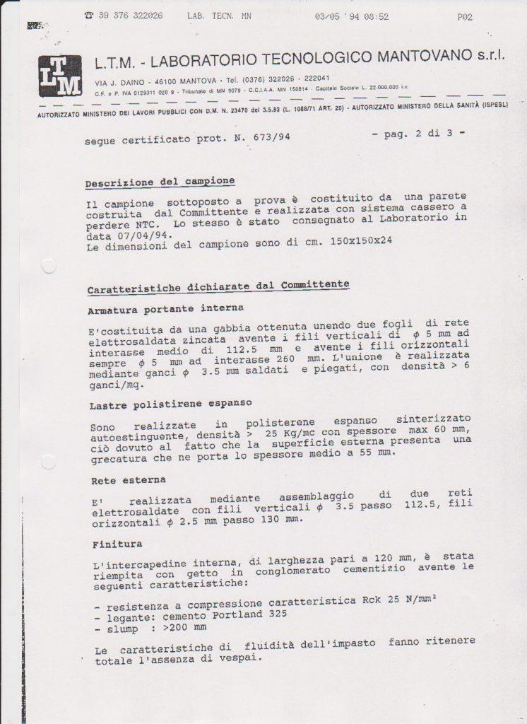 Certificato trasmittanza termica