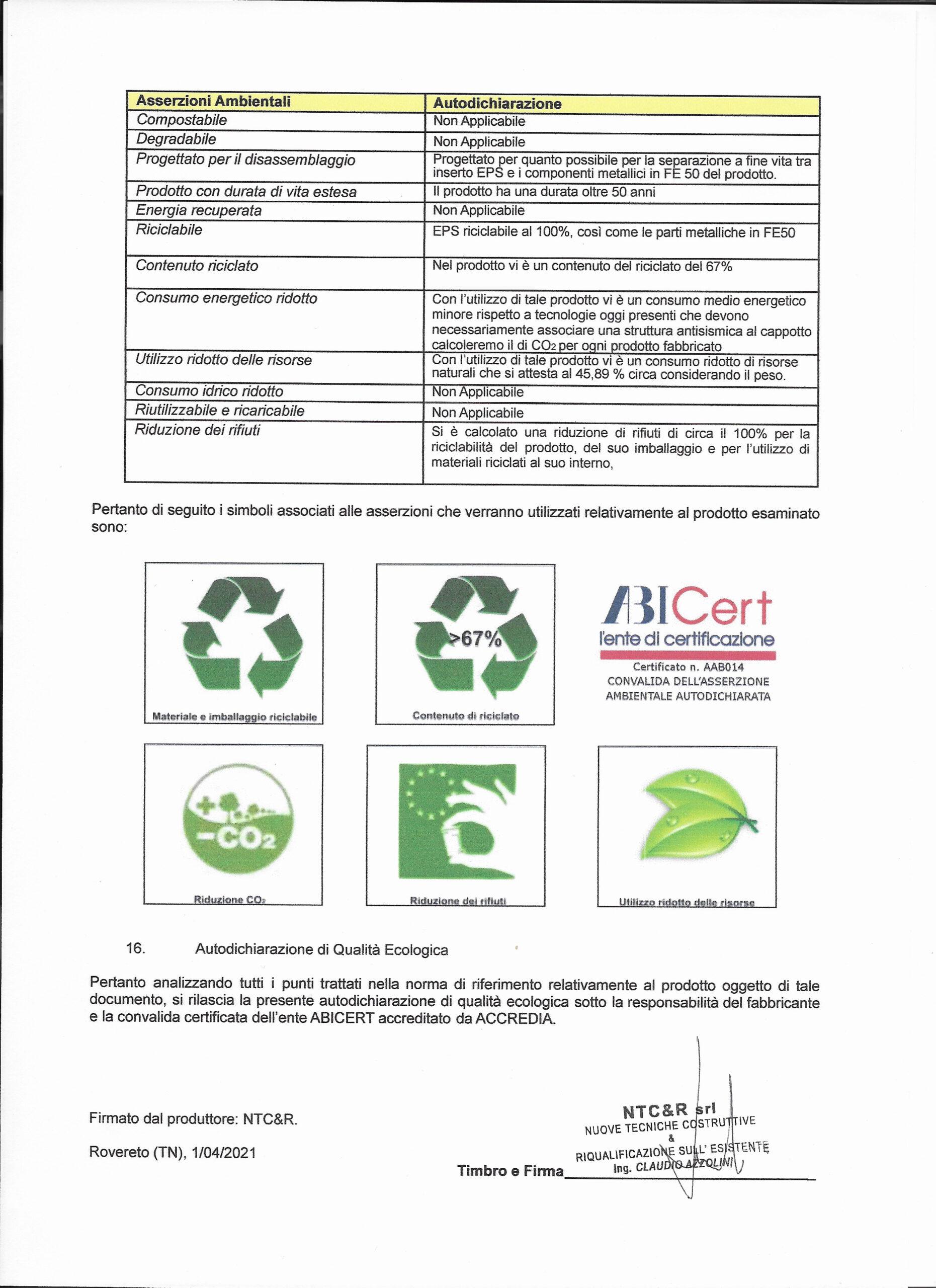 Autocertificazione ISO 14021_completa _1_Green 400